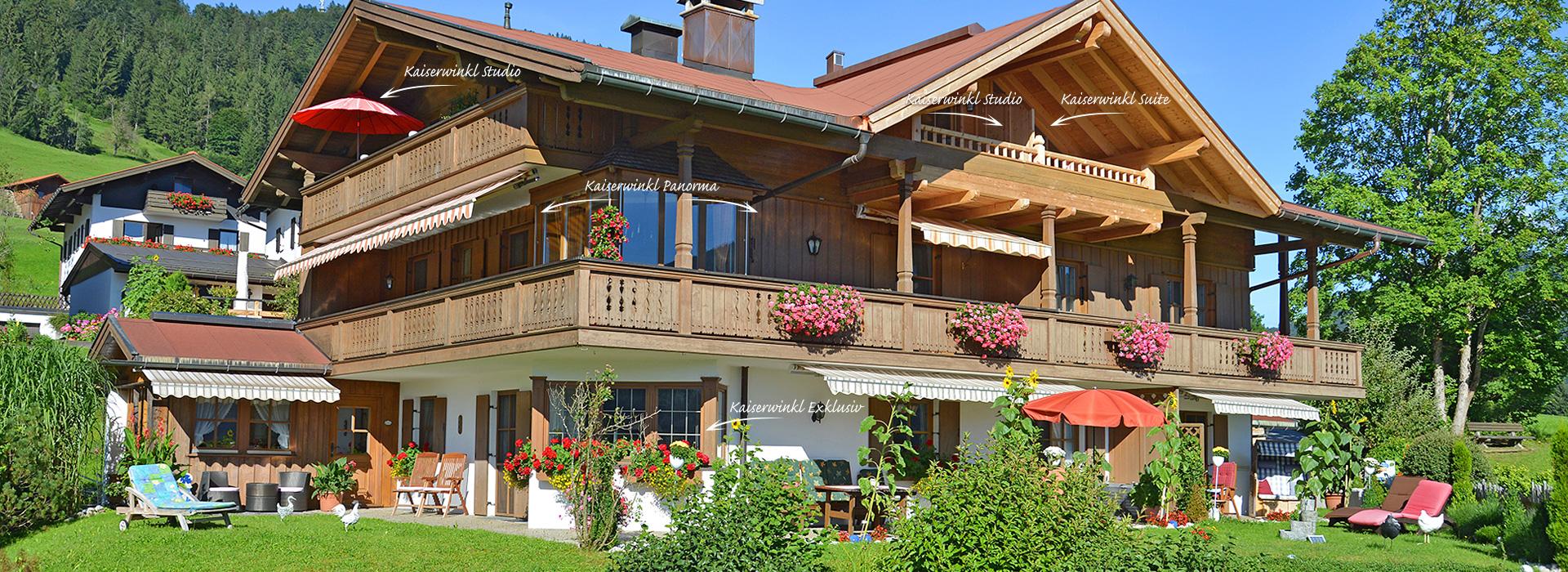 Ferienwohnung Reit im Winkl, Ferienhaus Neumaier Gartenansicht