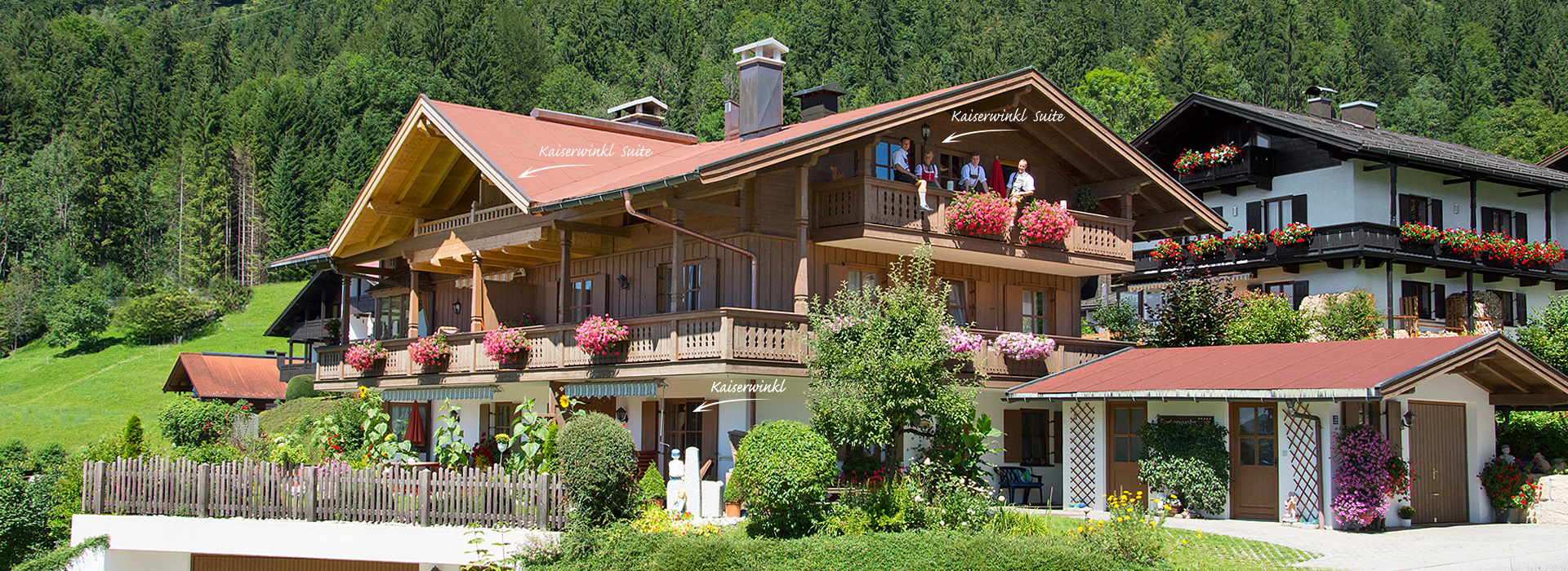 Ferienwohnung Reit im Winkl, Ferienhaus Neumaier Frontansicht