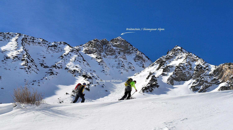Winterurlaub Bayern, Skitour Breitenstein