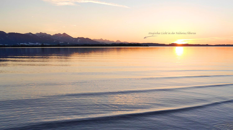 Chiemsee, Sonnenuntergang
