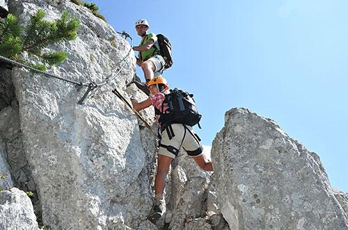 Klettersteig an der Steinplatte