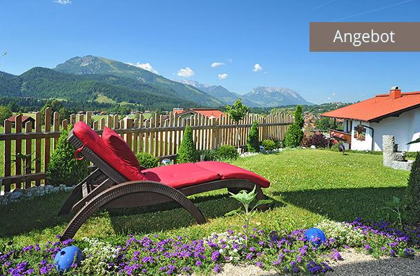 Sommerurlaub in Reit im Winkl, Liege im Garten von Ferienwohnungen Neumaier