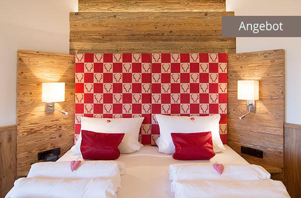 Exklusives Bett in Ferienwohnung Kaiserwinkl Suite für 2 Personen