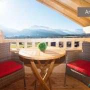Balkon von Ferienwohnung Kaiserwinkl Studio mit Bergblick