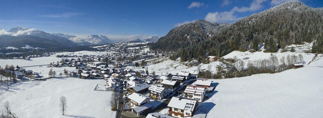 Ferienwohnung Neumaier Reit im Winkl - Luftaufnahme Haus Neumaier im November 2016