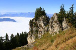 Felsen von Berg Hochgern im Chiemgau